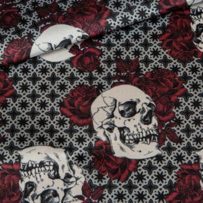 skulls roses linings