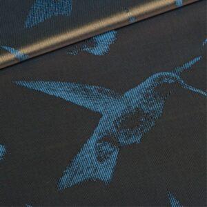 blue birds lining