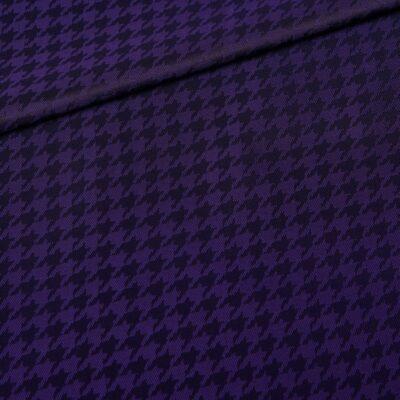 Design Pied de poule Black Purple