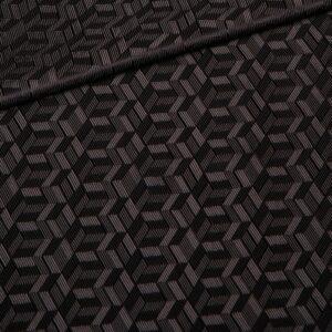 grey geometric lining